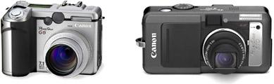 Canon PowerShot G6 en S70