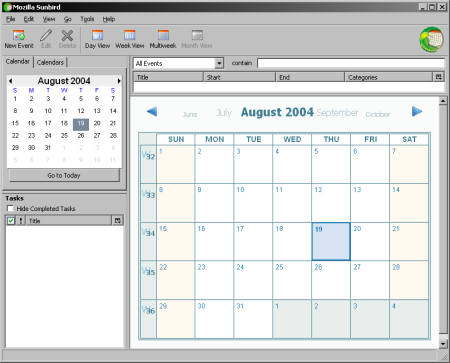 Mozilla Calendar 0.2a (klein)