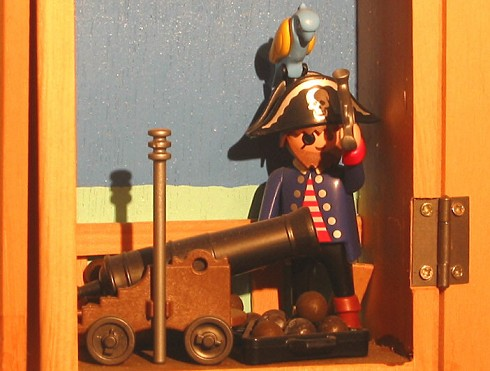 Piracy / piraterij / peer to peer / p2p / brein / playmobil / piraat