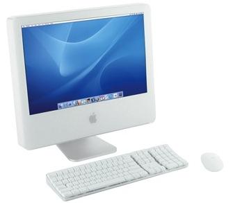 Apple iMac G5 driekwart vooraanzicht