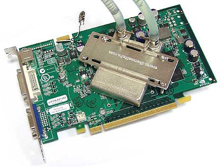 nVidia Geforce 6600 GT met waterkoeler