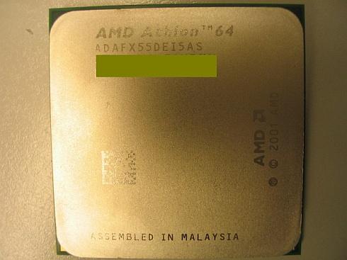 Niet officieel: AMD Athlon 64 FX-55