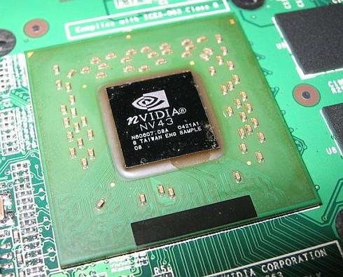 Close up GeForce 6 Go-chip