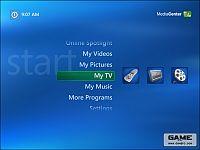 Windows XP MCE 2005 Hoofdscherm (klein)