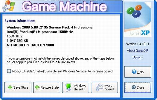 Game XP 1.4.10.11 screenshot (resized)
