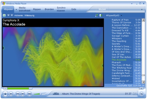 Windows Media Player 10 in action (klein)
