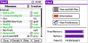 FileZ screenshot