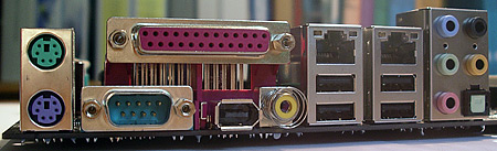 MSI K8N Neo4-moederbord close-up