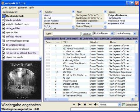 wxMusik screenshot (klein)
