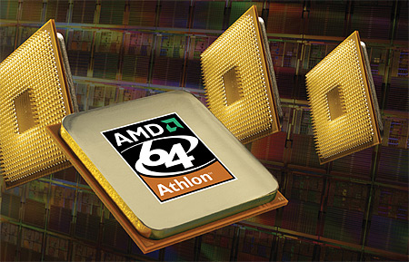 AMD Athlon 64 processor (wafer background #2, groot)