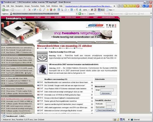 Avant Browser 10.0 build 030 screenshot (resized)