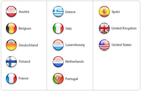 Landen met beschikbare iTunes Music Store