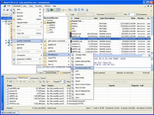 SmartFTP screenshot (resized)