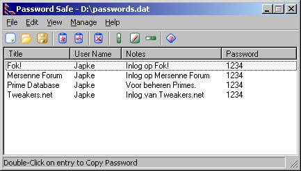 PasswordSafe 2.06