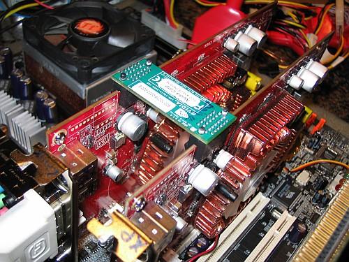 Twee GeForce 6600 GT-kaarten in SLI-opstelling