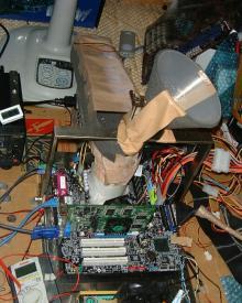 Pentium M Overgeklokt - Opstelling