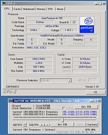 Pentium M Overgeklokt - Resultaat