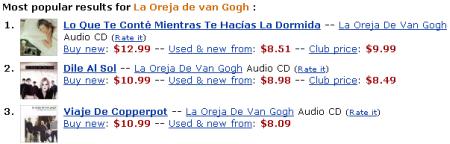 Amazon: La Oreja de van Gogh