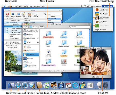 MacOS X 10.3.6 screenshot
