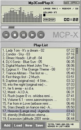 Mp3CoolPlay-X screenshot