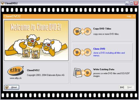 CloneDVD screenshot (klein)