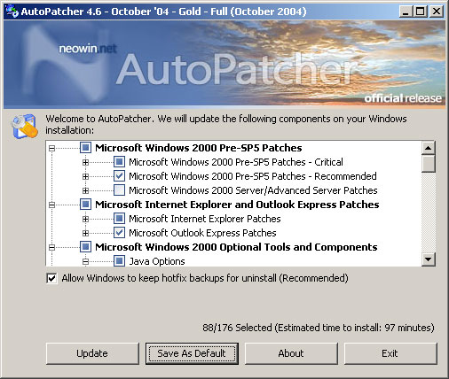 AutoPatcher 2000 screenshot
