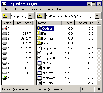 7-Zip screenshot