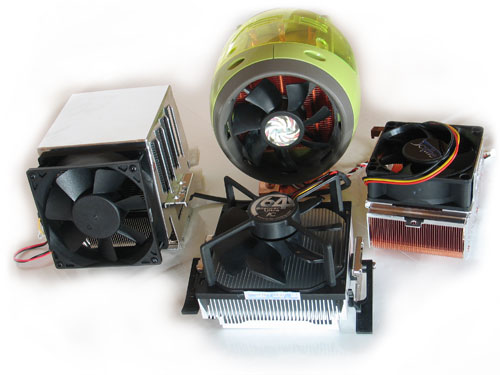 Vier Athlon 64-koelers