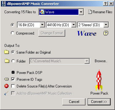dBpowerAMP Music Converter screenshot
