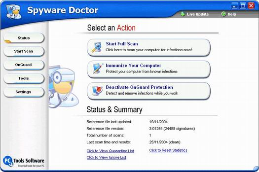 Spyware Doctor 3.0 screenshot (resized)