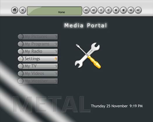 Media Portal screenshot