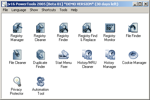 jv16 PowerTools 2005 beta 1 screenshot