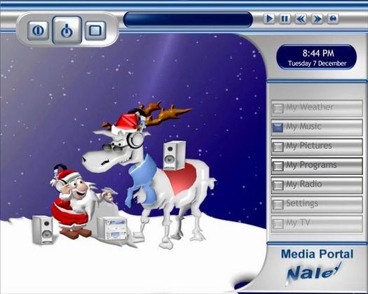 Media Portal met Christmas skin