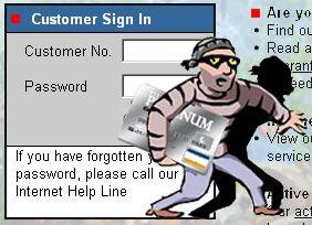 Illustratie phishing / diefstal van identiteit