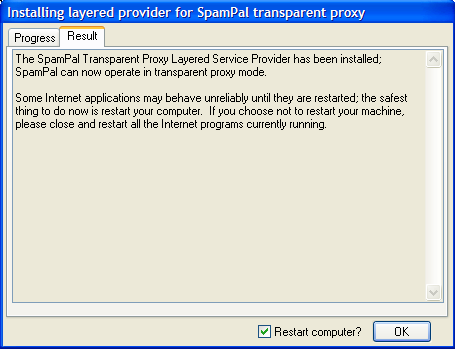 SpamPal 1.70 beta - transparant proxy