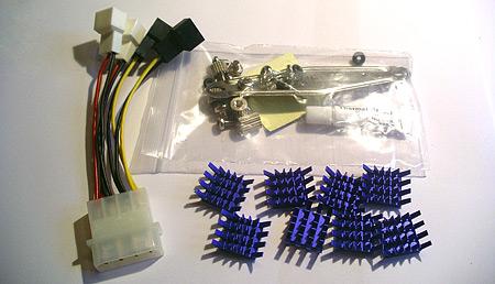 Meegeleverd spul met de Zalman VF700-Cu en VF700-AlCu VGA-koelers