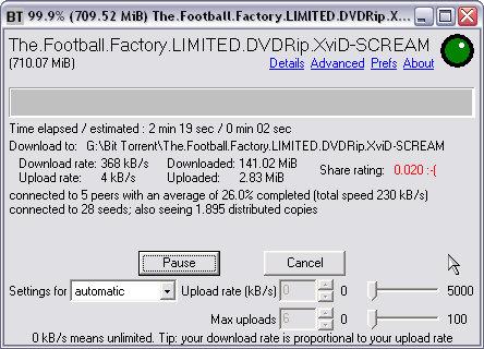 BitTornado screenshot