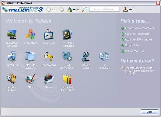 Trillian Pro 3.0 screenshot (resized)
