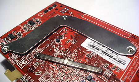 Close-up van de achterkant van de Radeon X850 XT PE