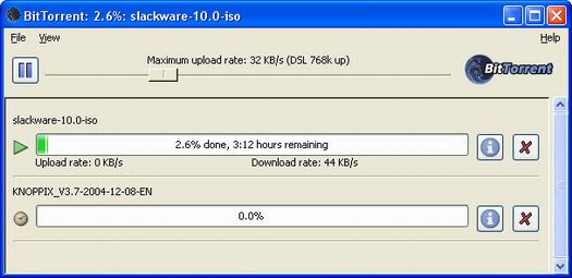 BitTorrent 3.9.0 beta (resized)