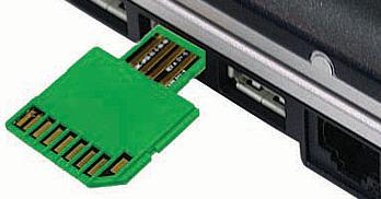 SD- & USB-aansluiting op één geheugenkaart