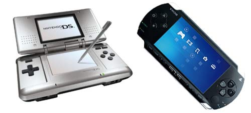 Nintendo DS en Sony PSP