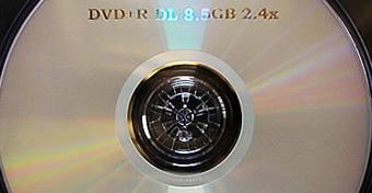 Dubbellaags dvd-schijfje van Verbatim