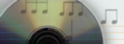 Muziek, cd, muzieknoten