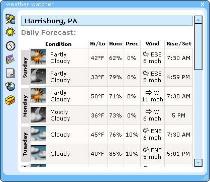Weather Watcher 5.6 screenshot