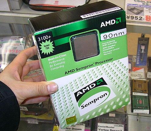 90nm Sempron in verpakking