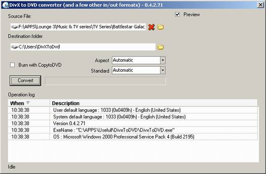 DivxToDVD screenshot (resized)