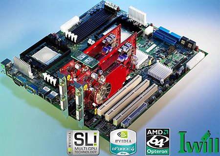 IWill-moederbord met nVidia nForce Professional-chipset
