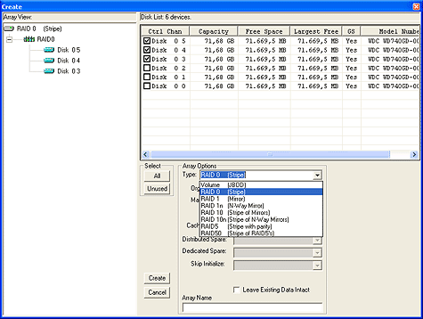 SATA RAID 2005 review: RAIDCore BC4852 screenshot 1