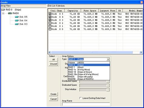 SATA RAID 2005 review: RAIDCore BC4852 screenshot 1